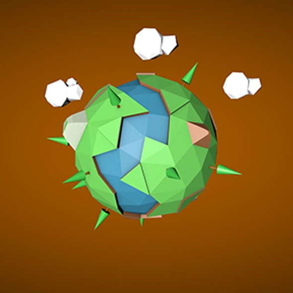 Low Poly Earth 3D Design