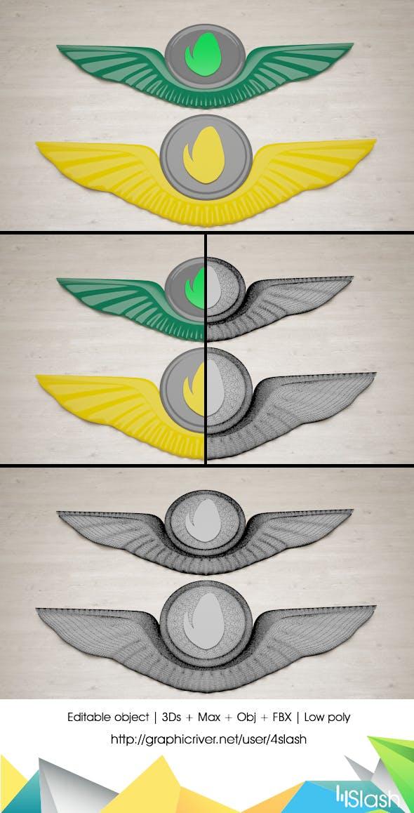 3d Badge Design - 3DOcean Item for Sale