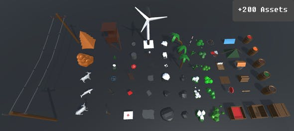 Low Poly Pack - 3DOcean Item for Sale