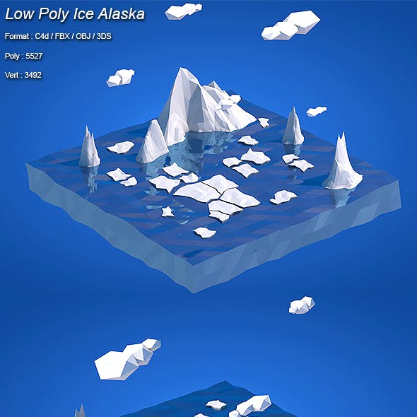 Low Poly Ice Alaska
