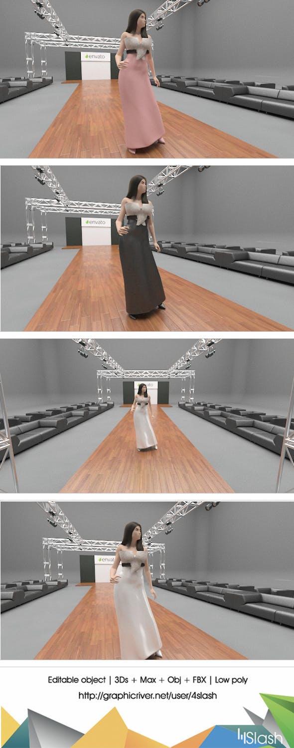 3d Dress Mockup - 3DOcean Item for Sale