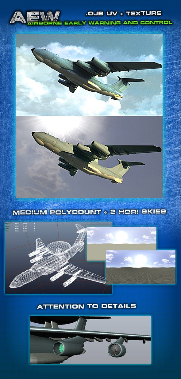 Plane Airborne Early Warning and Control - 3DOcean Item for Sale