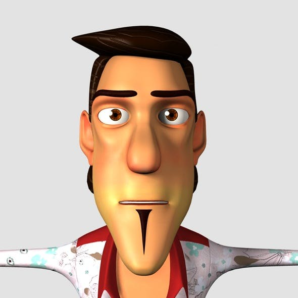Man Cartoon Character