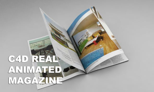C4d Real Magazine Animation (NO VRAY NEEDED) by fak1982 | 3DOcean