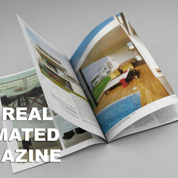 C4d Real Magazine Animation (NO VRAY NEEDED)