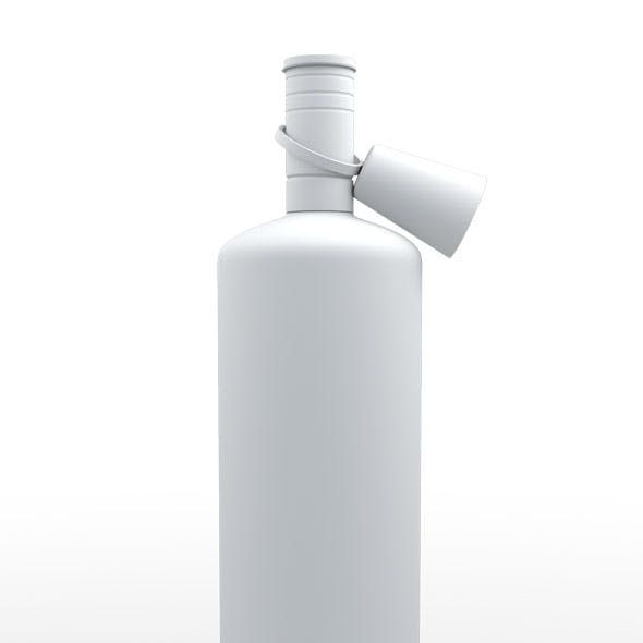 Vodka Botol 3d Model