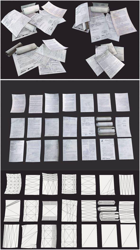 Paper Debris - 3DOcean Item for Sale