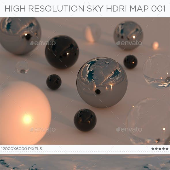 High Resolution Sky HDRi Map 001