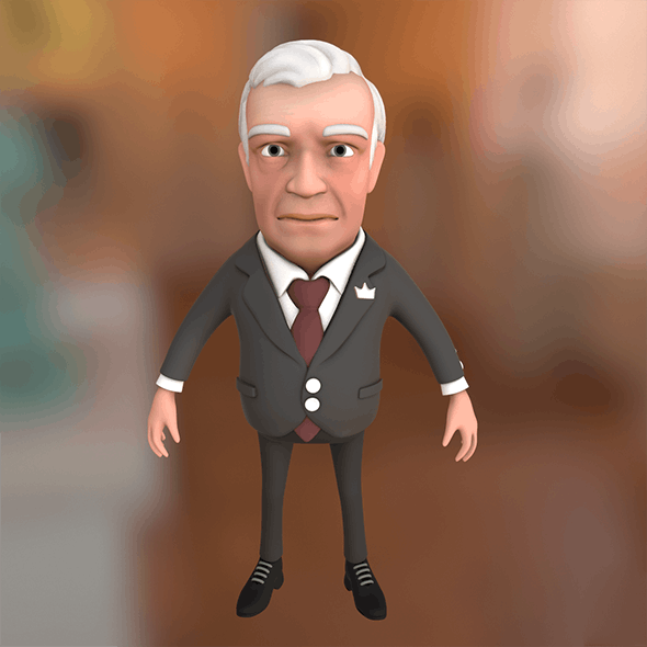Big boss cartoon character - 3DOcean Item for Sale