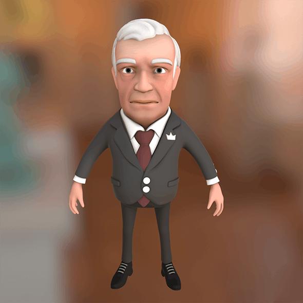 Big boss cartoon character