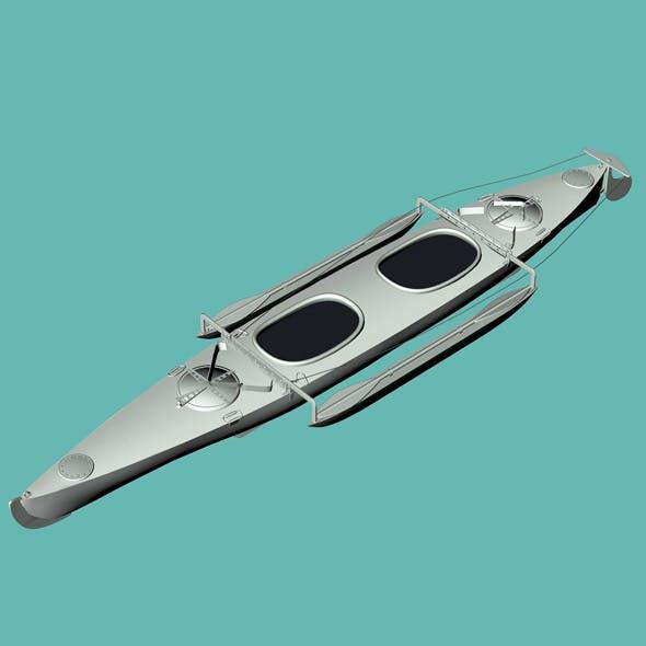 Aluminium Canoe 3D model
