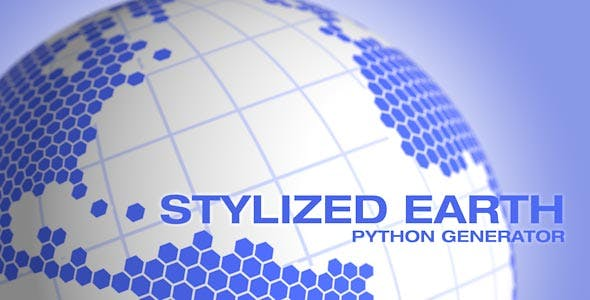 Stylized Earth C4D Python Generator - 3DOcean Item for Sale