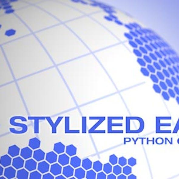 Stylized Earth C4D Python Generator