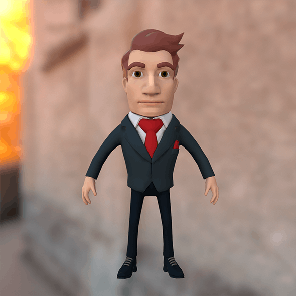 Businessman cartoon character in suit