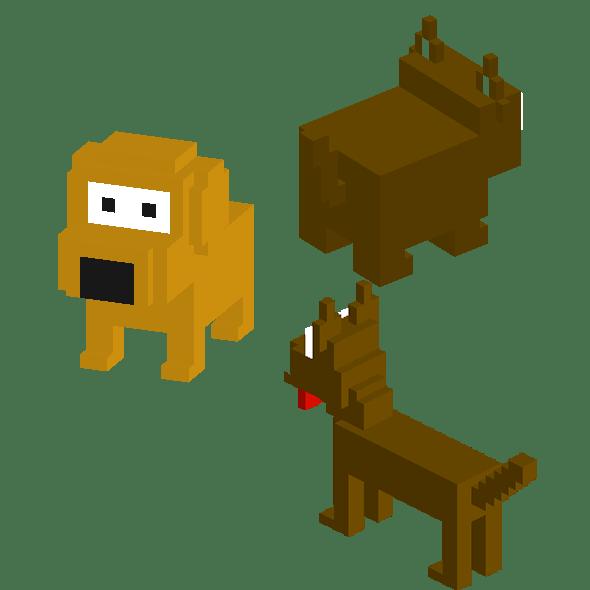 Dog Voxel Set