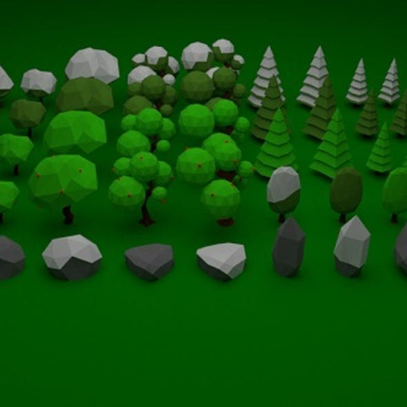 Low Poly Nature Pack 001