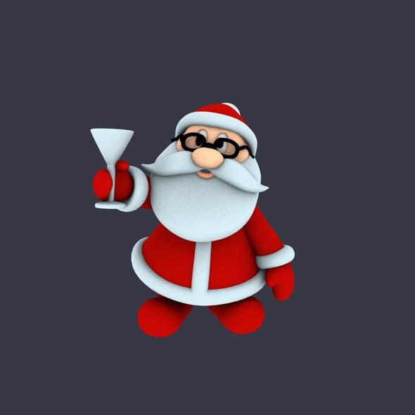 Funny Santa Pose 2
