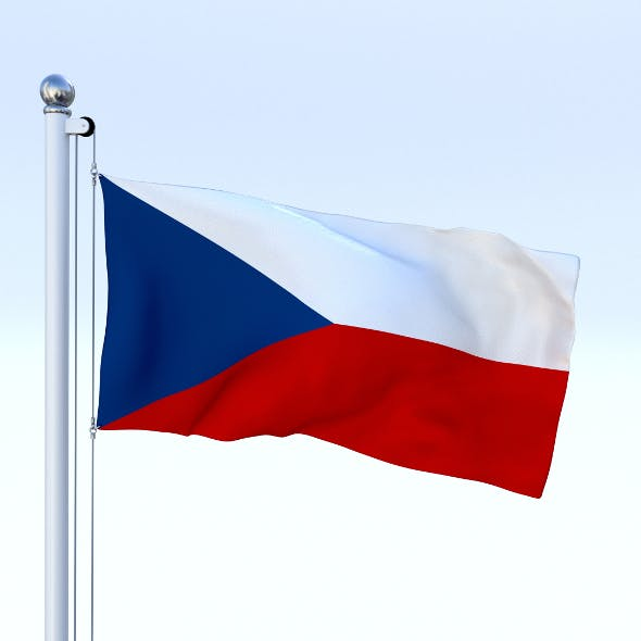 Animated Czech Republic Flag - 3DOcean Item for Sale