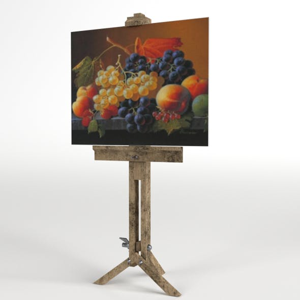Drawing Canvas on Tripod - 3DOcean Item for Sale