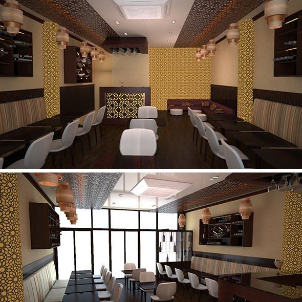 3d Resturant Interior