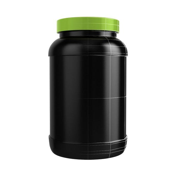 Protein Bottle with Green Cap