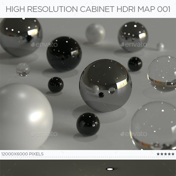High Resolution Cabinet HDRi Map 001