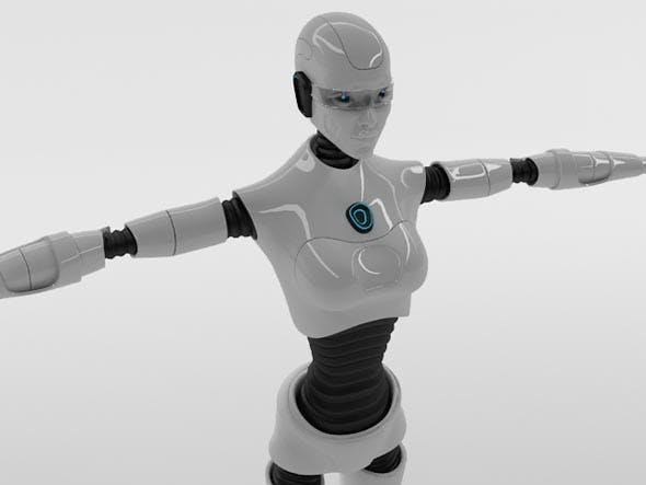 Robot Woman Character - 3DOcean Item for Sale