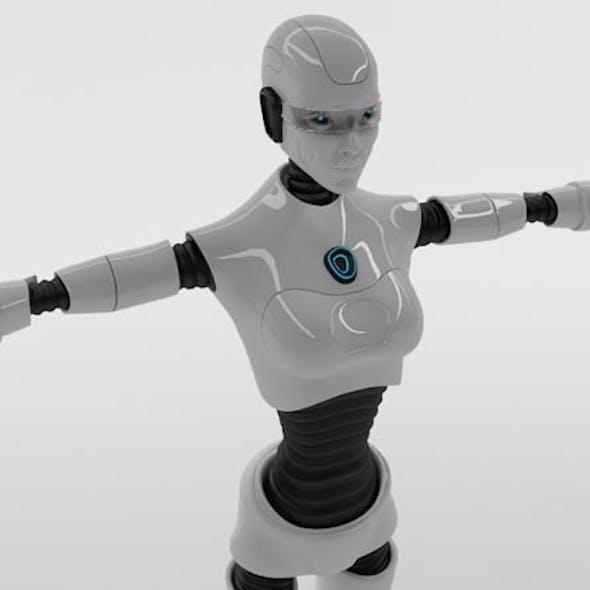 Robot Woman Character