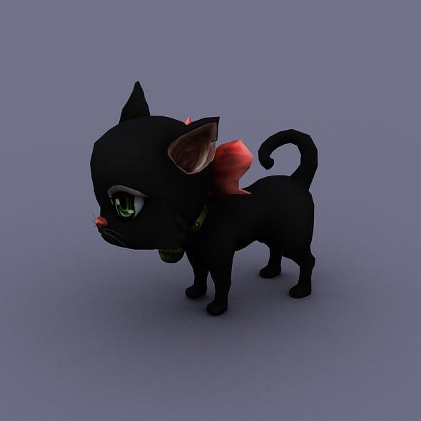 cat black - 3DOcean Item for Sale