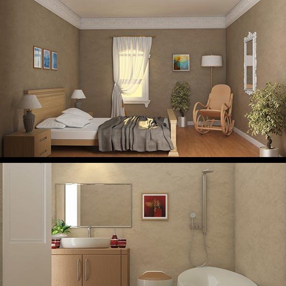 3d Full American House Interior