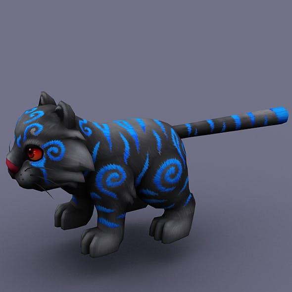 funny cat black