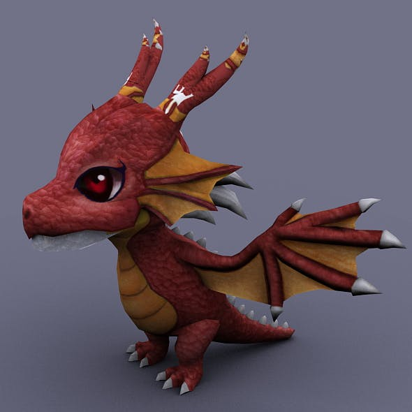 funny dragon red - 3DOcean Item for Sale