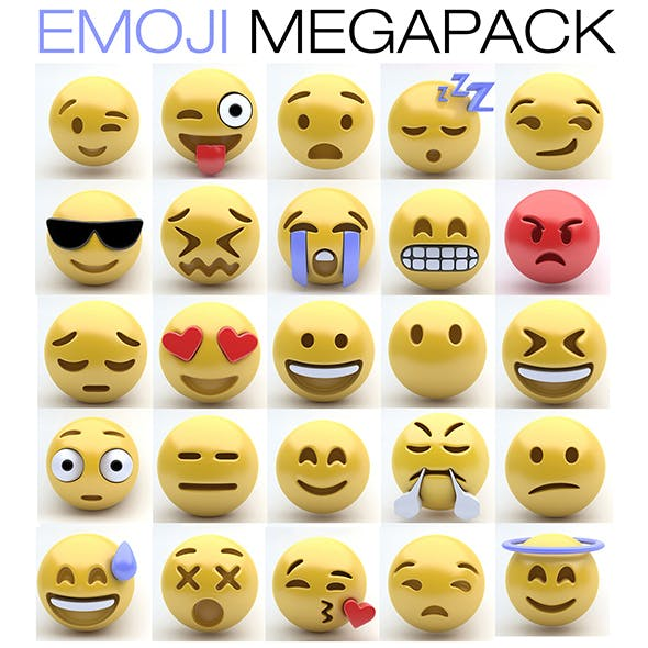 Emoji MEGAPACK - 3DOcean Item for Sale