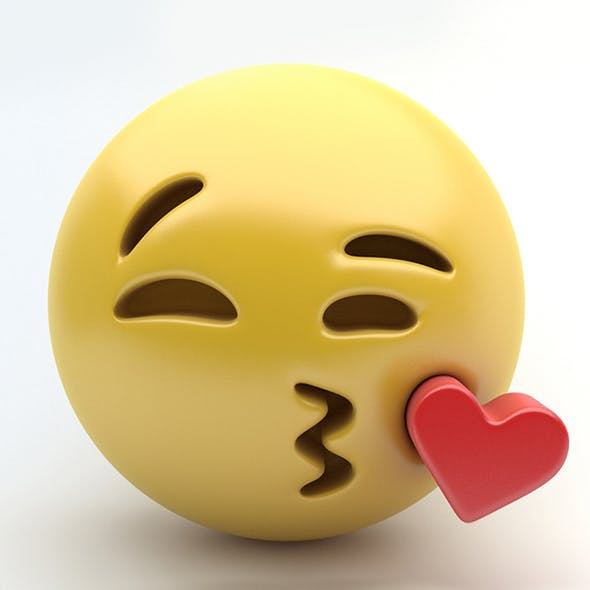 Emoji kissing