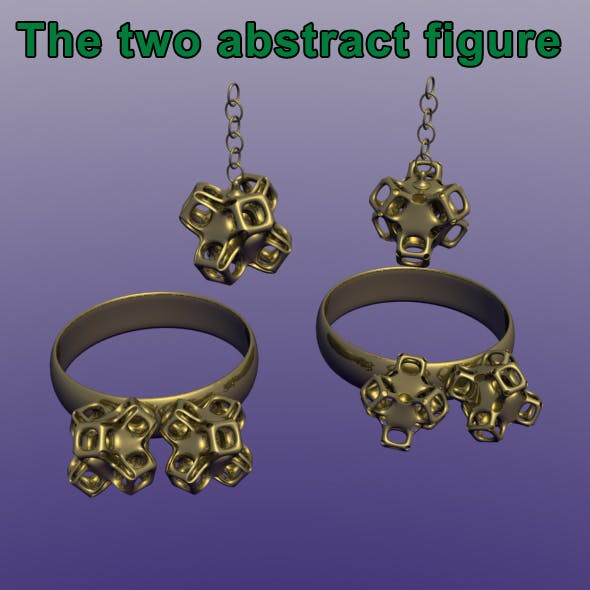 The two abstract objects - 3DOcean Item for Sale