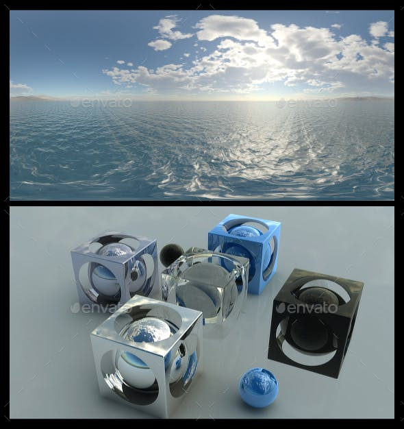 Coastal Clouds 4 - HDRI - 3DOcean Item for Sale
