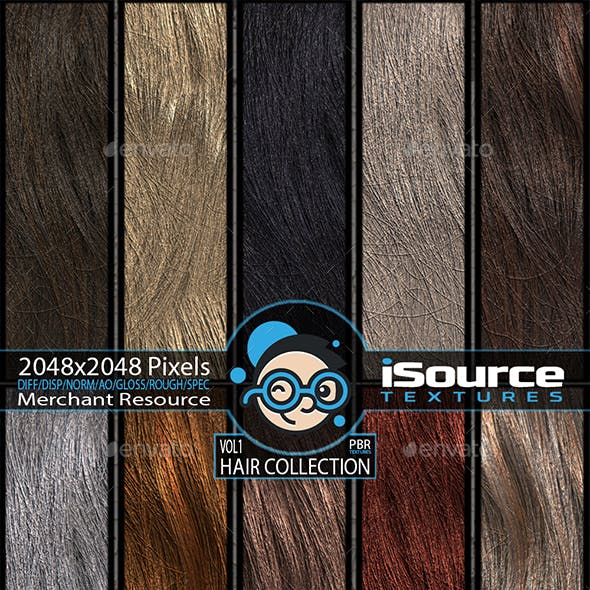 Hair Collection - Vol1(PBR Textures) Merchant Resource