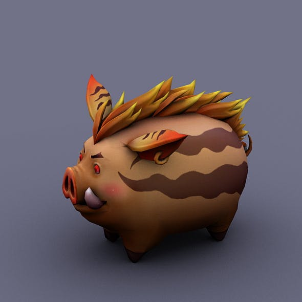 funny boar brown