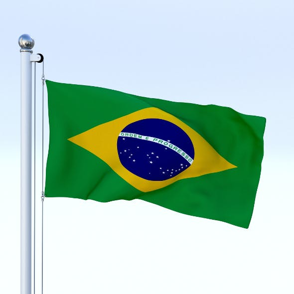 Animated Brazil Flag