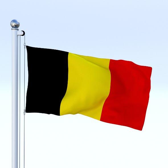 Animated Belgium Flag