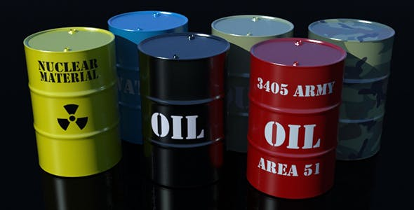 3d Metal Barrels - 3DOcean Item for Sale