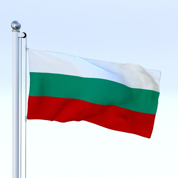 Animated Bulgaria Flag - 3DOcean Item for Sale
