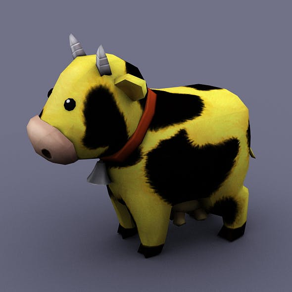 funny cow yellow