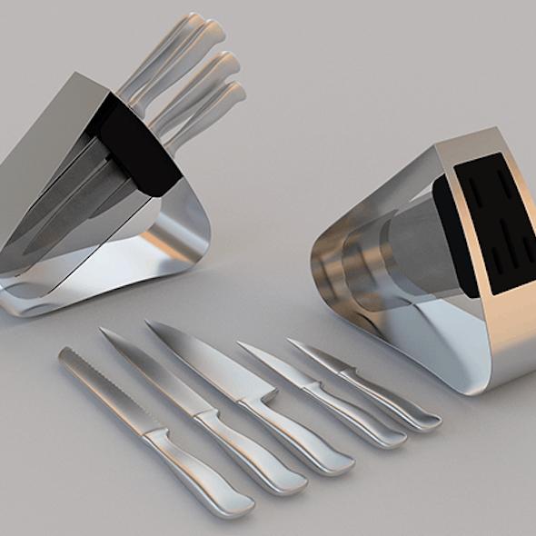 kitchen knives set with holder