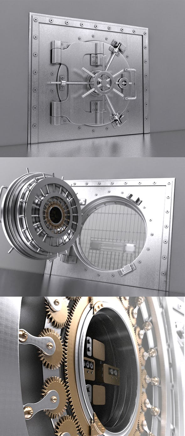 Bank Safe Vault - 3DOcean Item for Sale