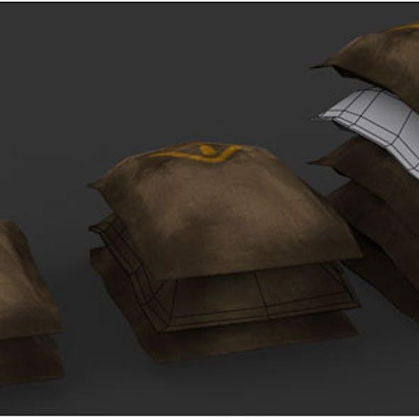 Jute Bags 3d Model