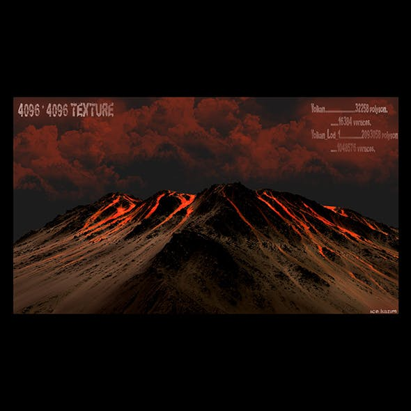 volcano 05 - 3DOcean Item for Sale