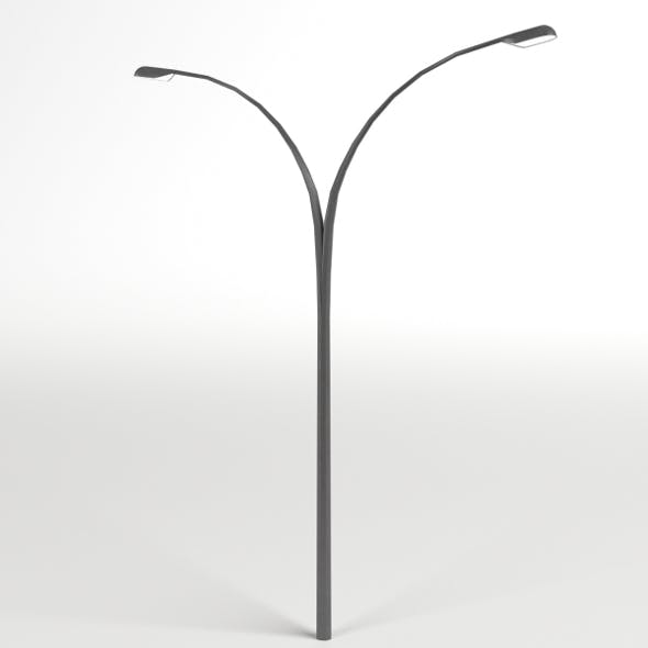 Double Street Lamp - 3DOcean Item for Sale