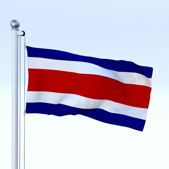 Animated Costa Rica Flag