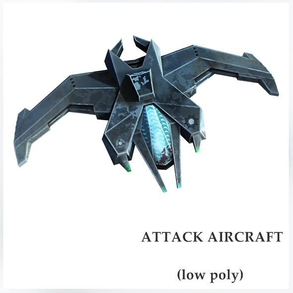 Attack aircraft - 3DOcean Item for Sale